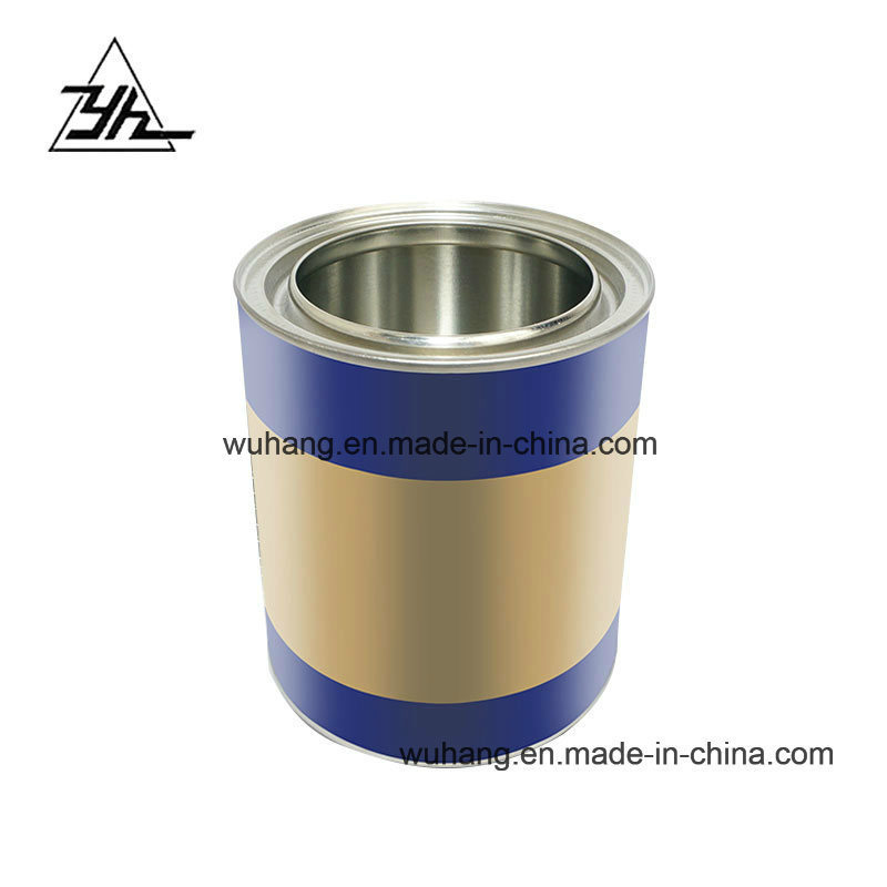 [Hot Item] 0 8L Liter Customized Round Tin Cans for Paint Coating Chemical