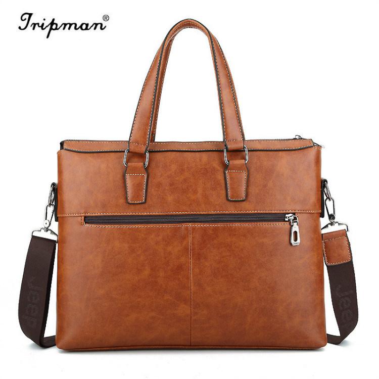 7f2cbe7ffa15 [Hot Item] Jeep Men′s Leather Travel Hiking Messenger Shoulder Bag Vintage  Briefcase