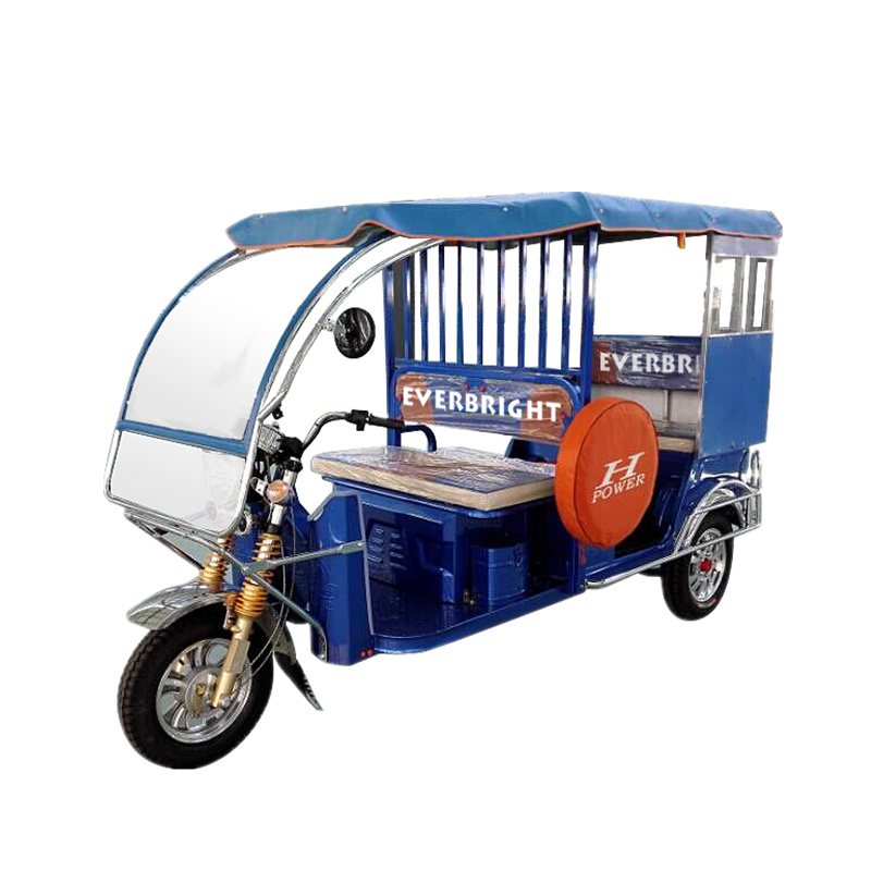 High Quality Three Wheel Passenger Commercial Use Electric Tricycle pictures & photos