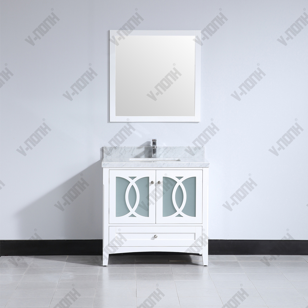 36inch Matte White Or Gray Solid Wood