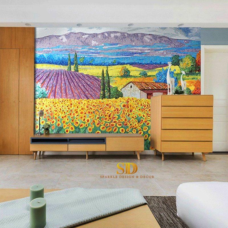 Colorful Gl Mosaic Wall Art Patterns