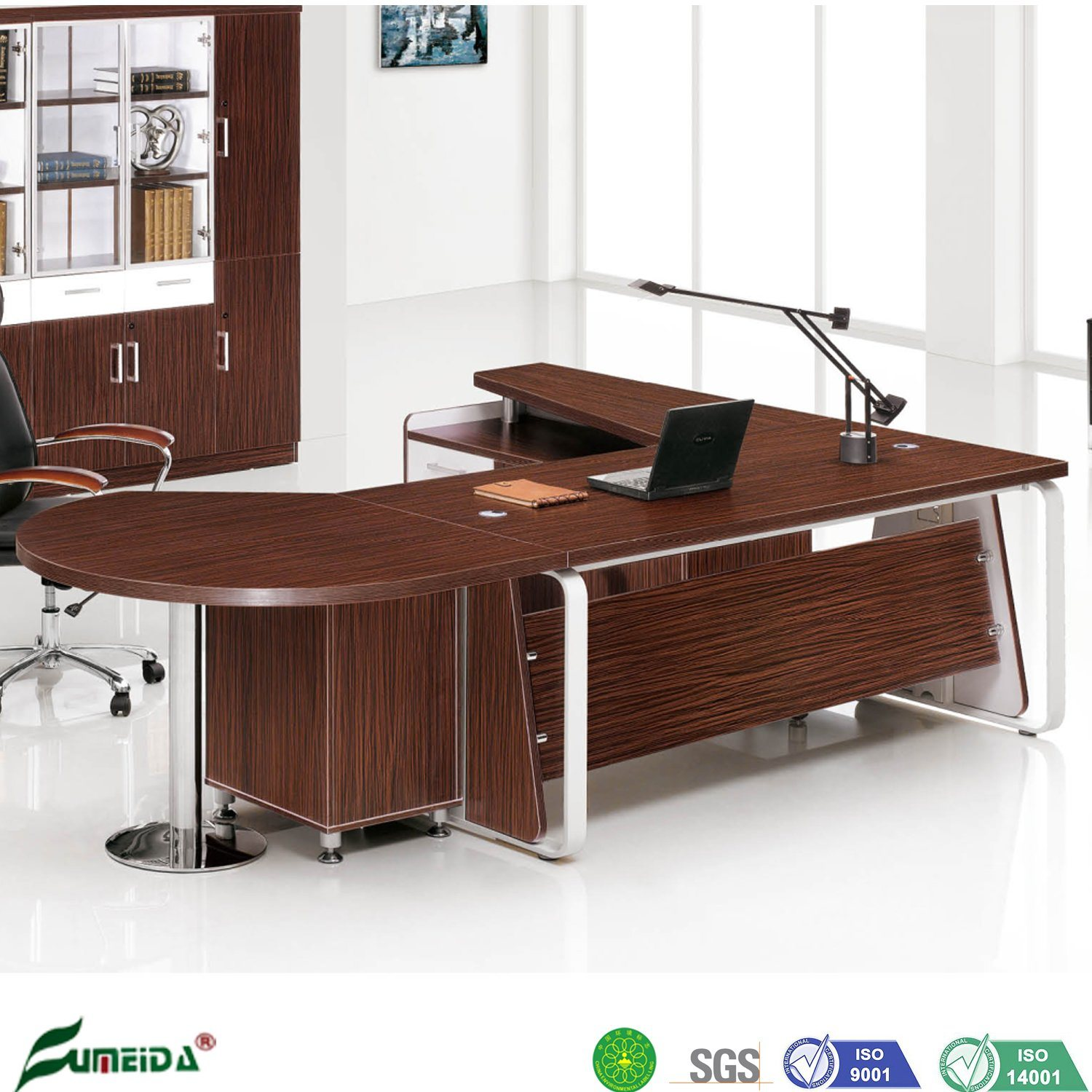 China Office Luxury Wood Big Chief Executive Desk With Extention Round Table China Chief Executive Desk Desk With Extention Round Table