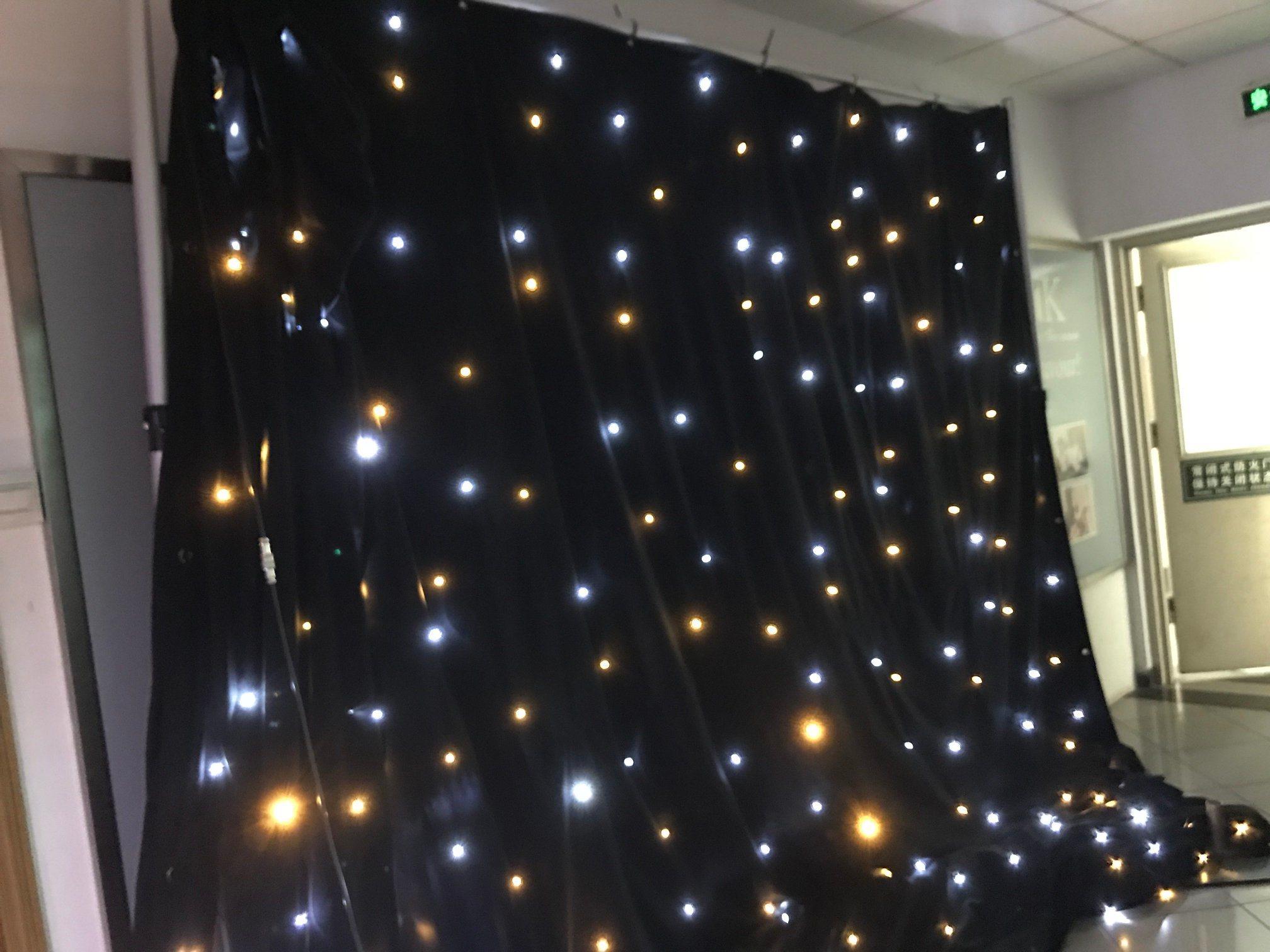 China Led Warm White Lights Curtain For Wedding Backdrop Decoration China Led Star Curtain Wedding Backdrop