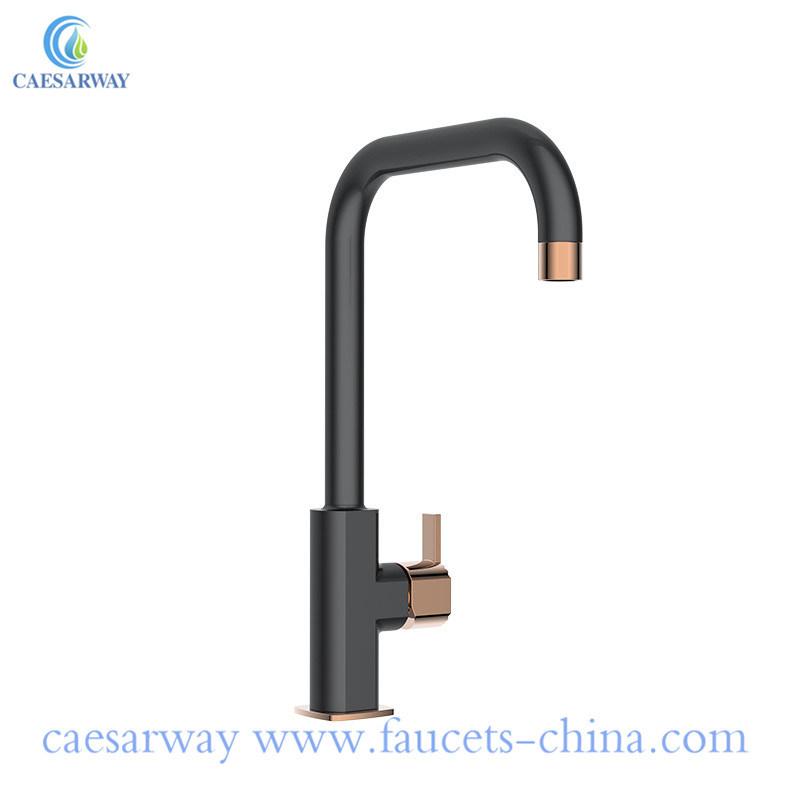 China Modern Rose Gold Brass Kitchen Faucet Black Bathoom Faucet China Bathroom Faucets Brass Bathroom Faucet