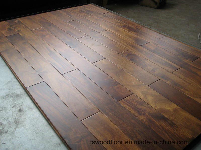 China Solid Acacia Bronze Walnut Wood Flooring