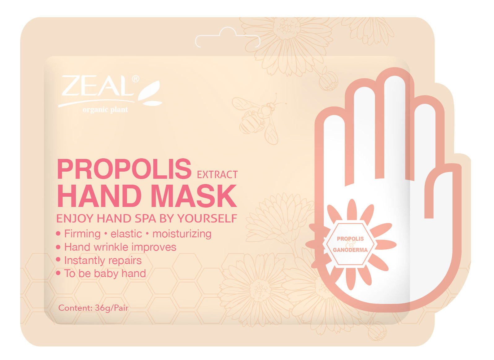 Zeal Propolis & Pearl Whitening & Brighten Foot Mask Cosmetic pictures & photos