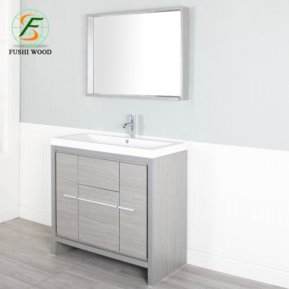 China Solid Wood Bathroom Vanity With