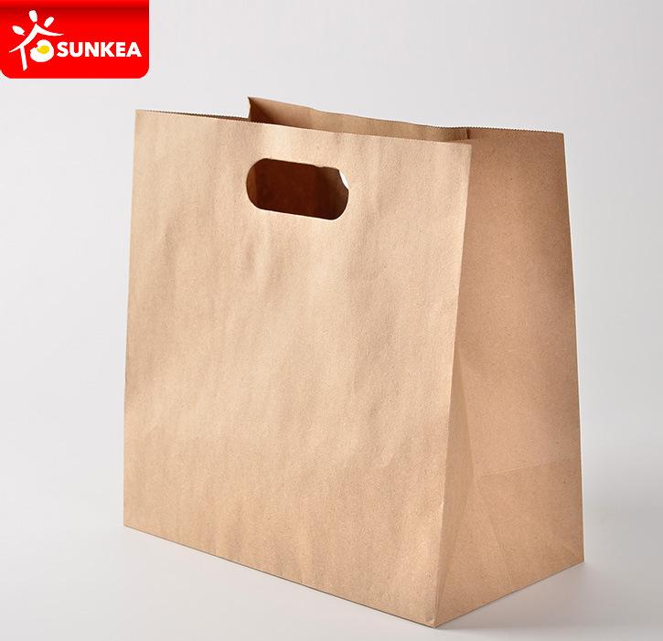 Take Away Kraft Paper Food Carrying Bag
