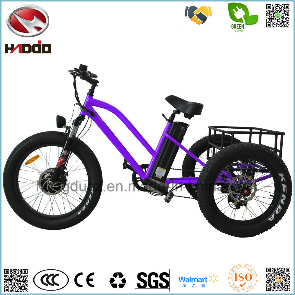 China 500w Fat Tire Three Wheel Electric Beach Bike Tricycle E With Pedal