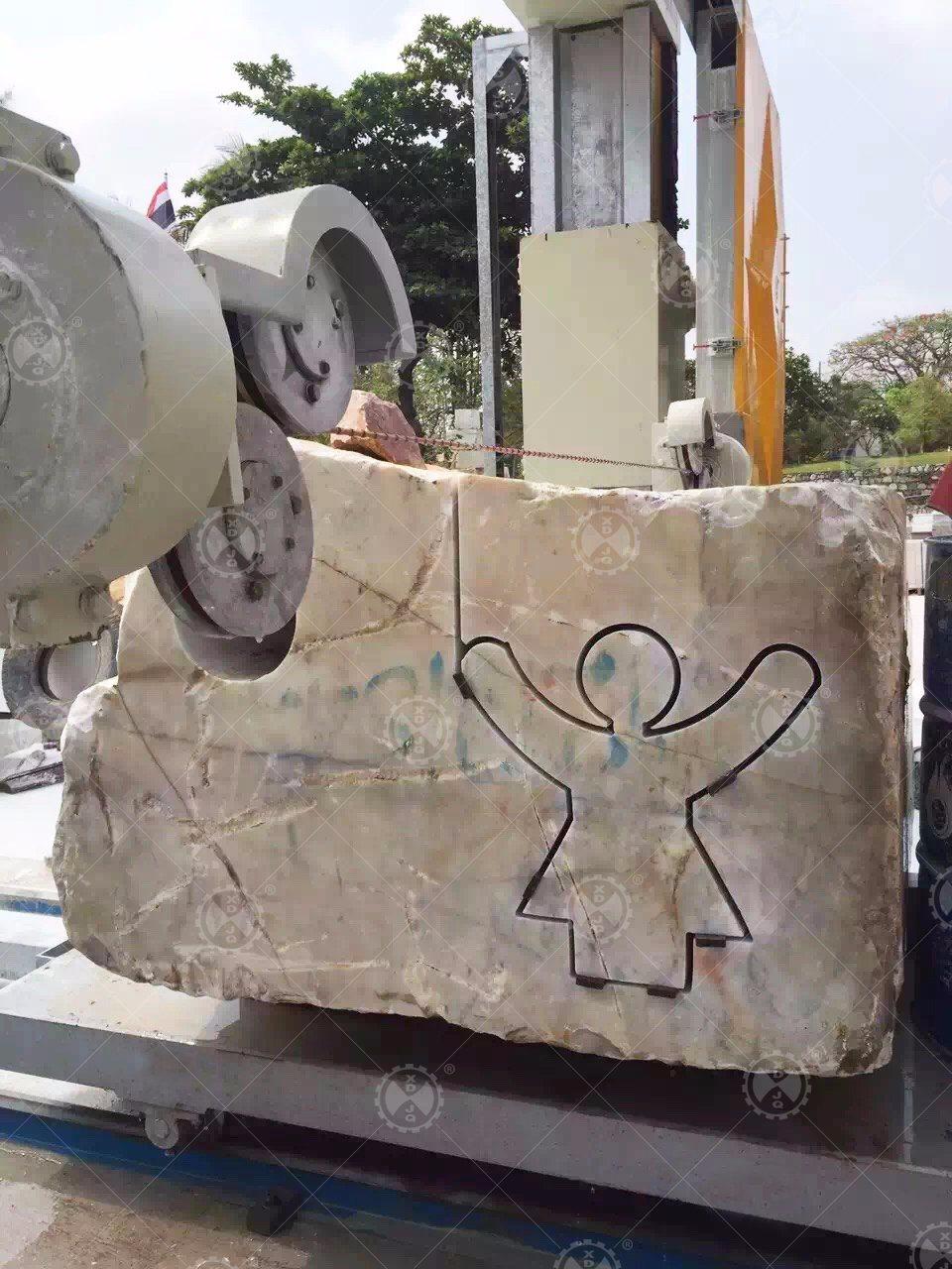 China CNC - 3000 Diamond Wire Saw Stone Profiling Cutting Machine ...