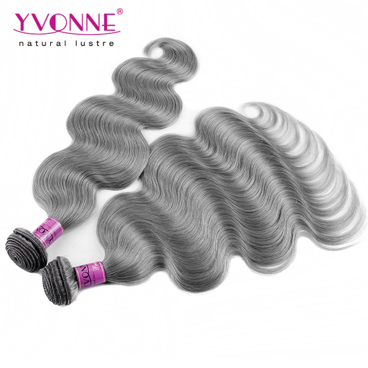 China New Arrival Brazilian Grey Human Hair Weave Photos Pictures