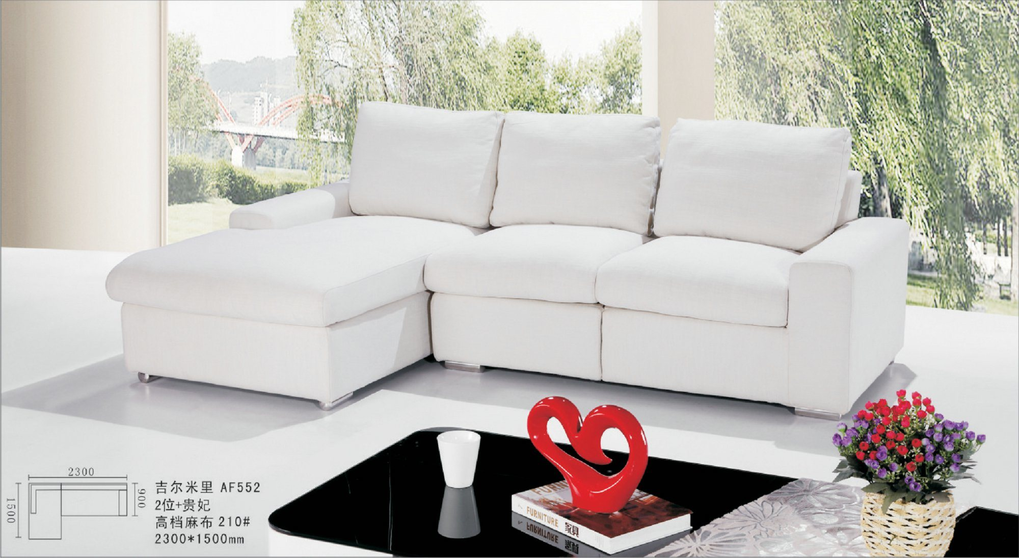 China White Upholstery Fabric Sofa Malaysia Couches s