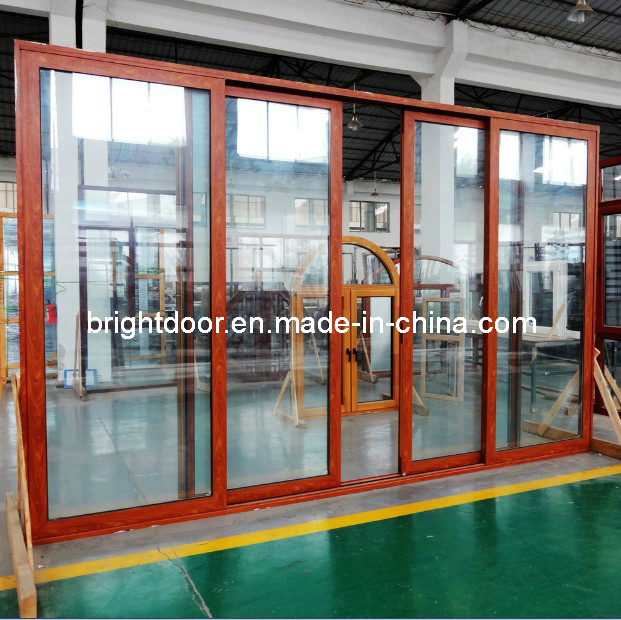 Australian Standard Double Glazing Aluminum Sliding Exterior Door pictures & photos