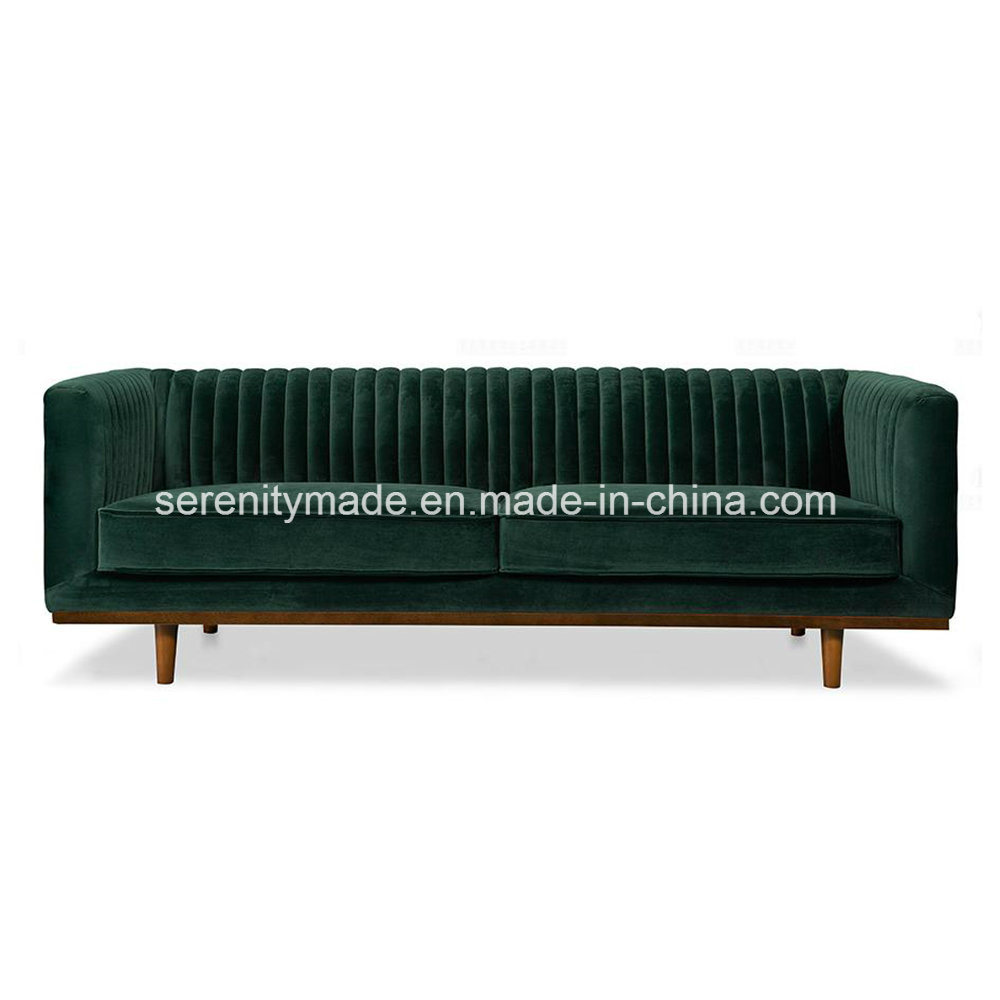 China European Style Luxury Living Room Furniture 3 Seater Green ...