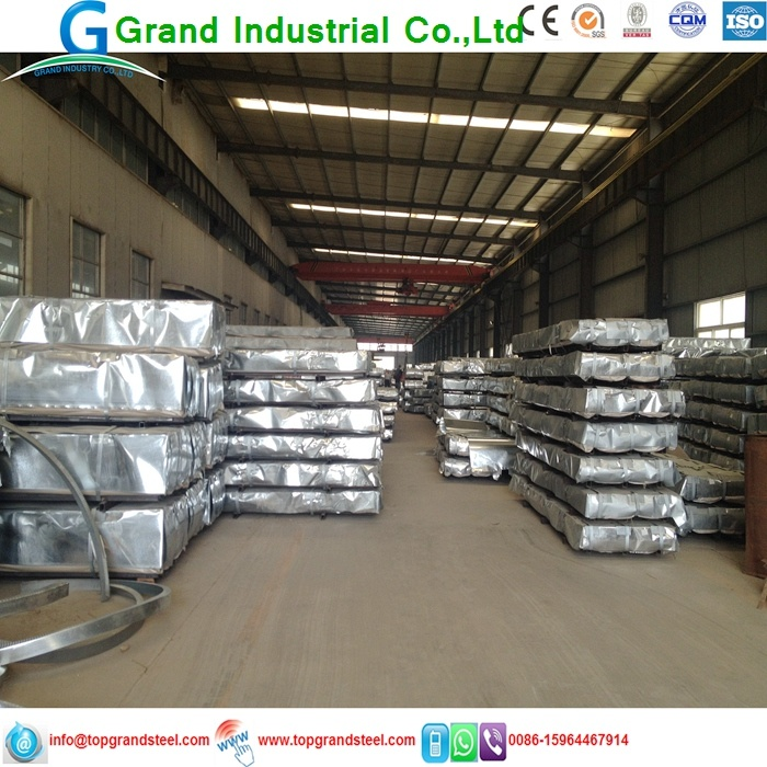 China Grandsteel Galvanized Corrugated Metal Roofing Steel Sheet