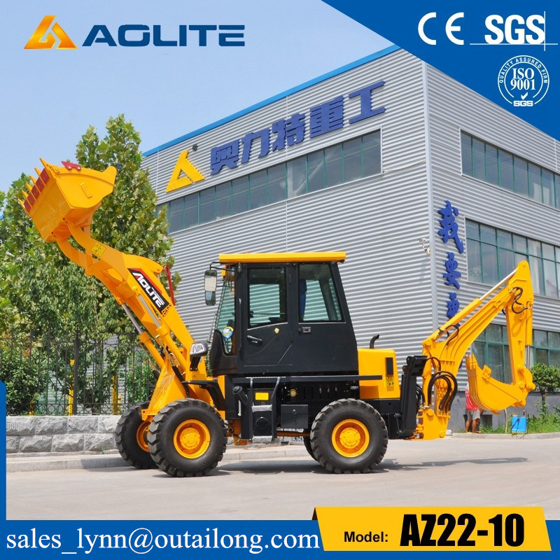 4X4 Compact Tractor Backhoe with Loader Quick Hitch in China pictures & photos