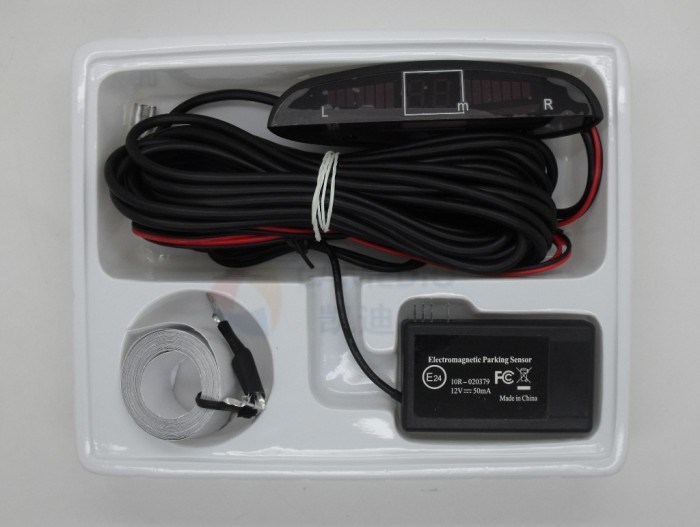 LED Display Auto Electromagnetic Parking Sensor with No-Drill& No-Damage pictures & photos