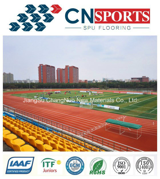 Self Knot SPU rubber Running Track/Runway for Sports Field pictures & photos
