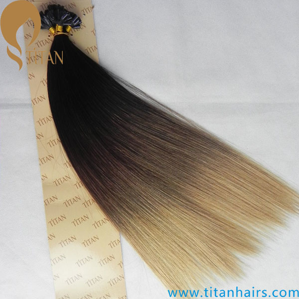 China Ombre Color Pre Bonded Keratin U Tip Hair Extension China U