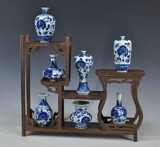 China Decorative Antique Blue And White Ceramic Porcelain Vases