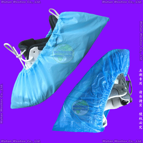 Waterproof Surgical/Medical/Hospital/Plastic/Polyethylene/Poly/HDPE/LDPE/PP+PE/PP/SMS/Polypropylene Nonwoven Disposable PE Shoe Cover, Disposable CPE Overshoes