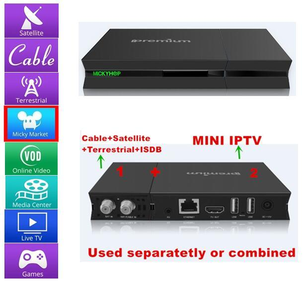 Best Live Streaming H. 265 Internet Digital TV Receiver