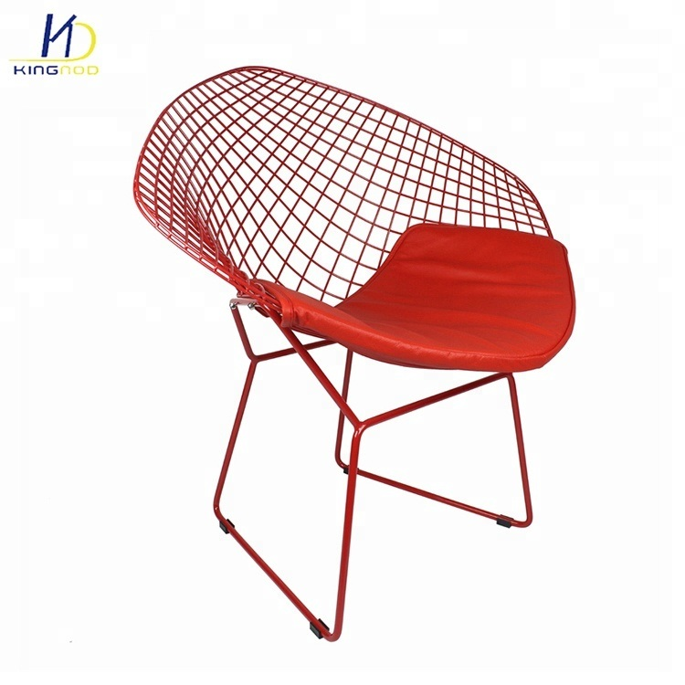 [Hot Item] Dining Furniture Modern Color Lounge Iron Metal Steel Wire Mesh  Outdoor Chair