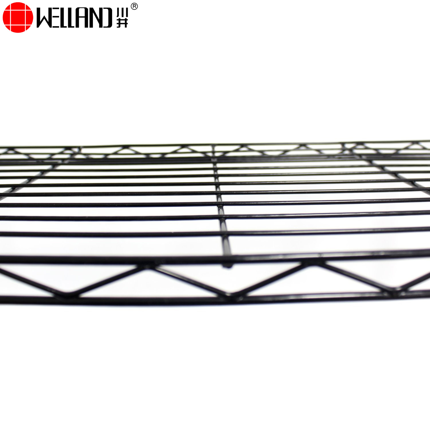 China Black Powcder Coated Metal Wire Shelving 5 Tier Adjustable ...