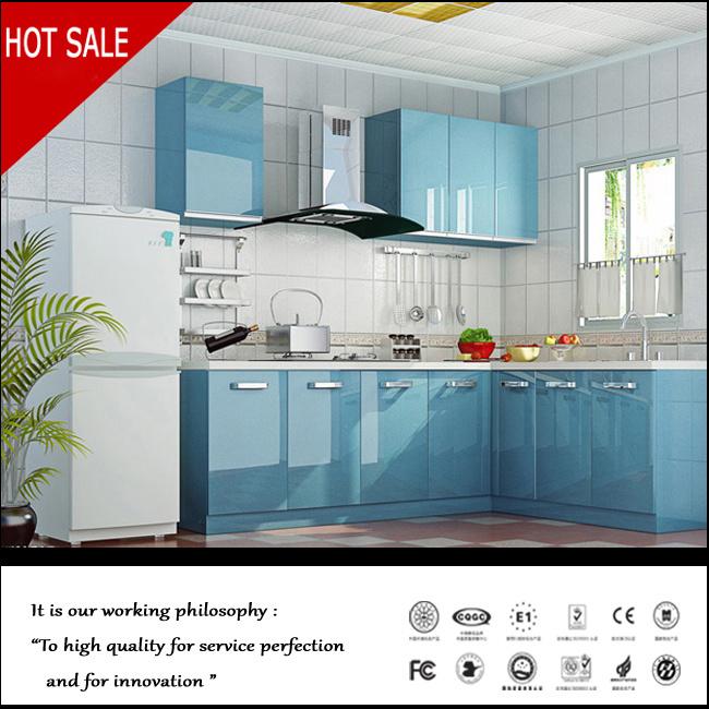 China Modular Kitchen Cabinet With Uv Surface Door Panel China