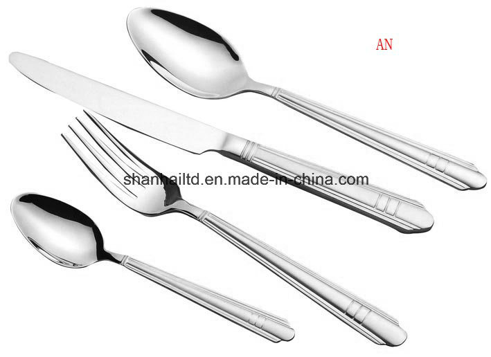 24PCS Stainless Steel Cutlery with Wood Case
