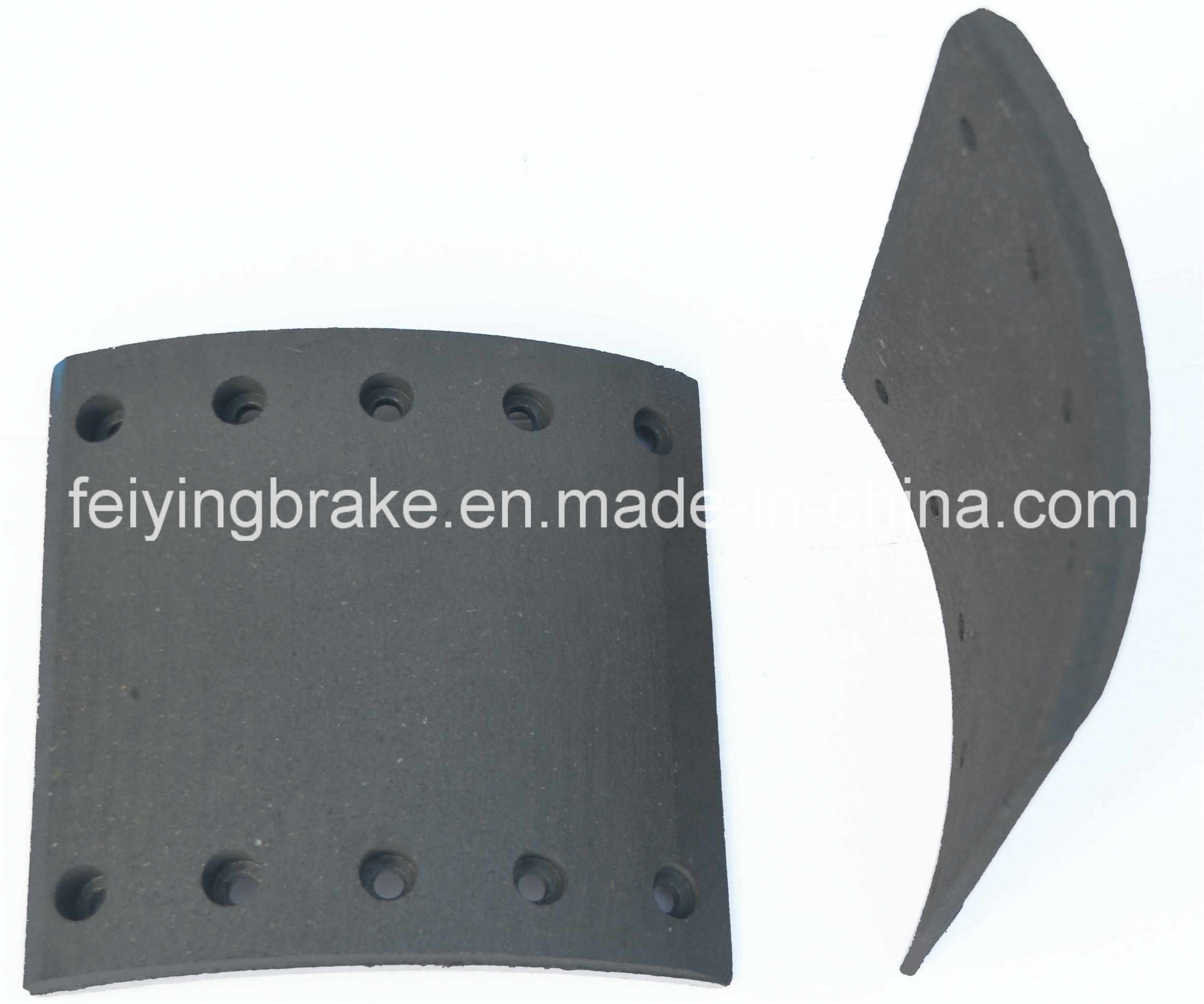 Asbestos Free Brake Lining for Heavy Duty Truck (WVA: 19094 BFMC: BC/37/1) Inculding Semi-Metallic and Ceramic, Carbon...Raw Material