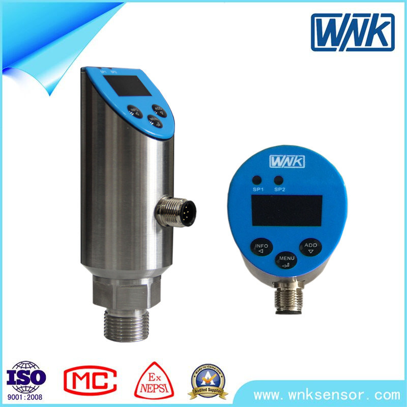 2× PNP/NPN+0~5VDC/10VDC+Modbus Pressure Transmitter with Switch Function
