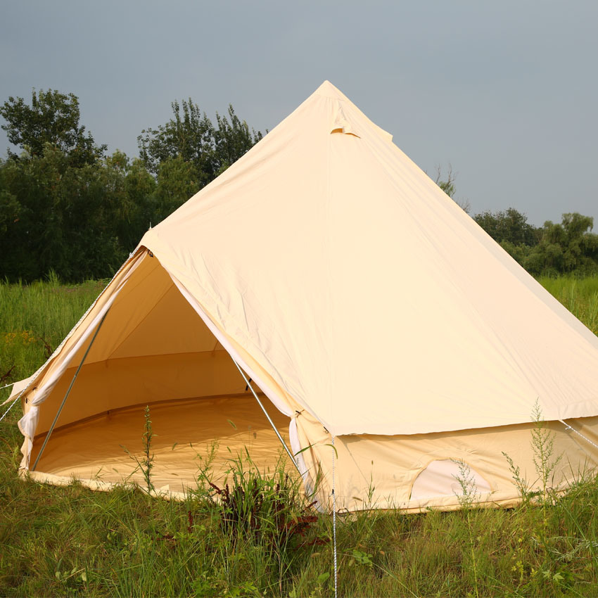 China Gl&ing Luxury Cotton Canvas Bell Tent 5m 6m 7m with Stove and Awning - China Bell Tent 5m Cotton Canvas Bell Tent & China Glamping Luxury Cotton Canvas Bell Tent 5m 6m 7m with Stove ...