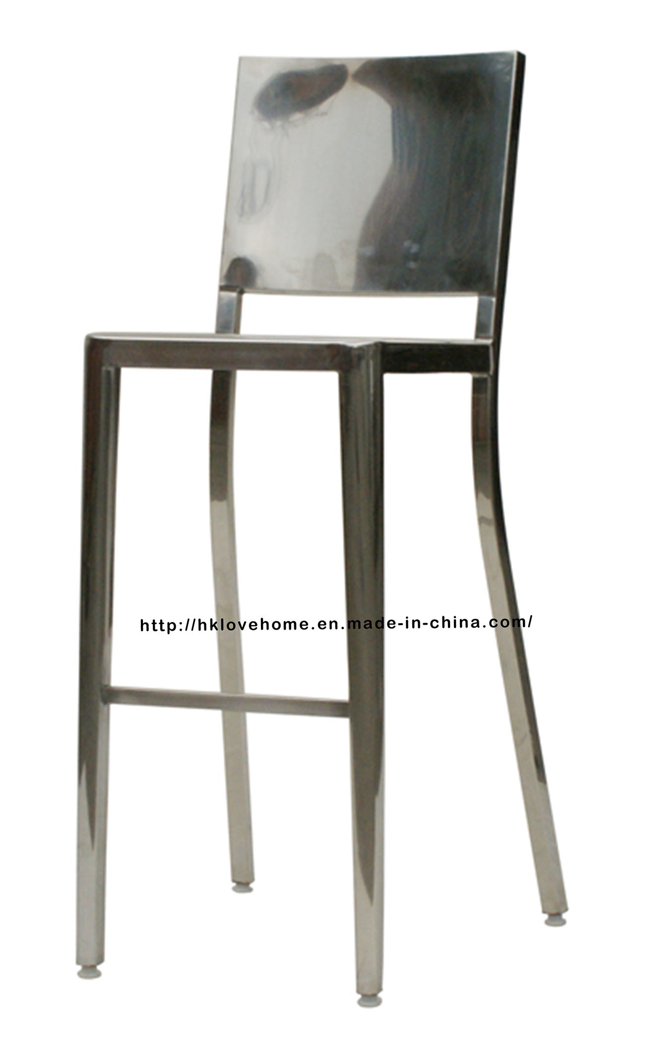 Emeco Dining Restaurant Stainless Steel Navy High Bar Stools Chairs