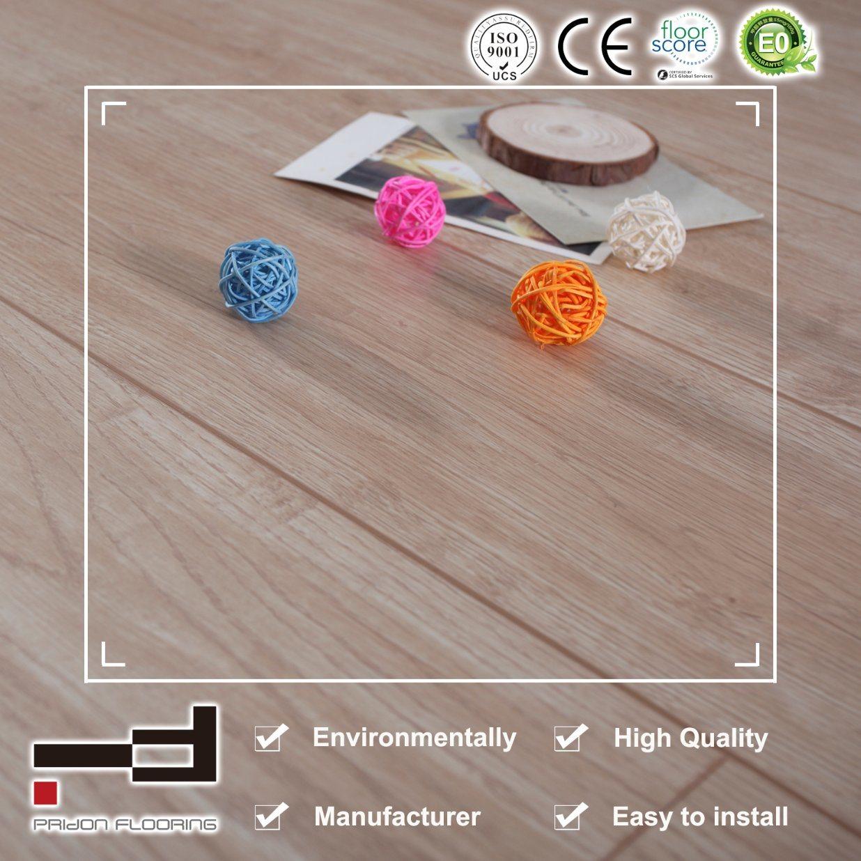China 12mm V Groove White Oak Eir Surface Laminate Flooring Laminated