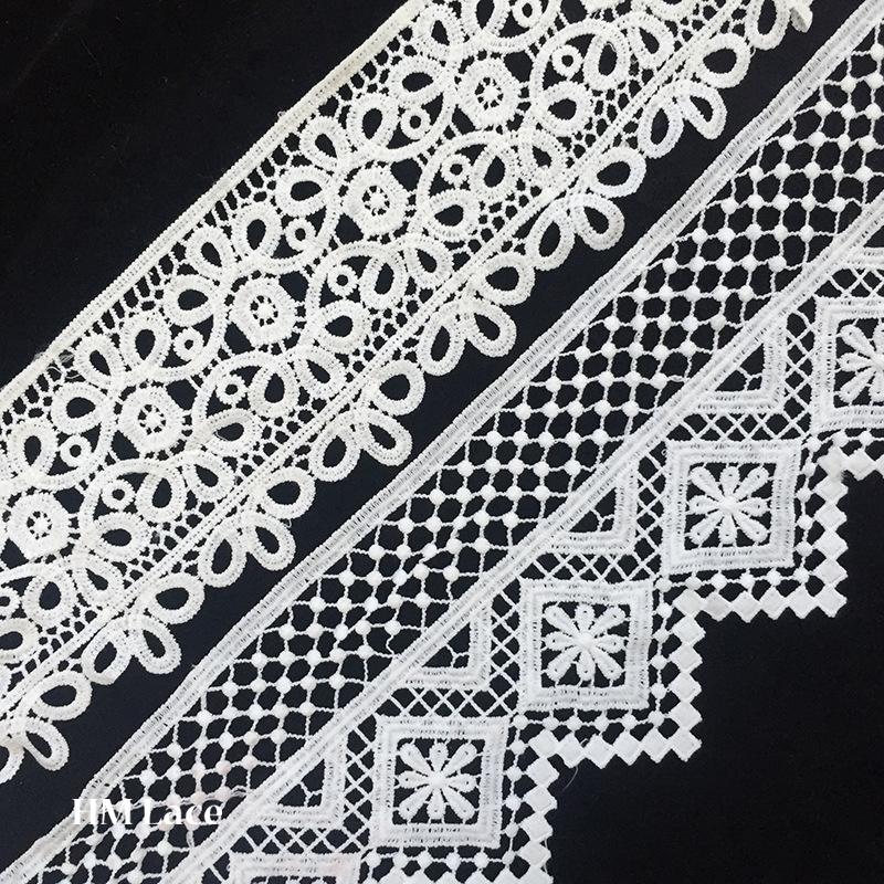 China Fashion Embroidery Design Neck Cotton Guipure Crochet Lace
