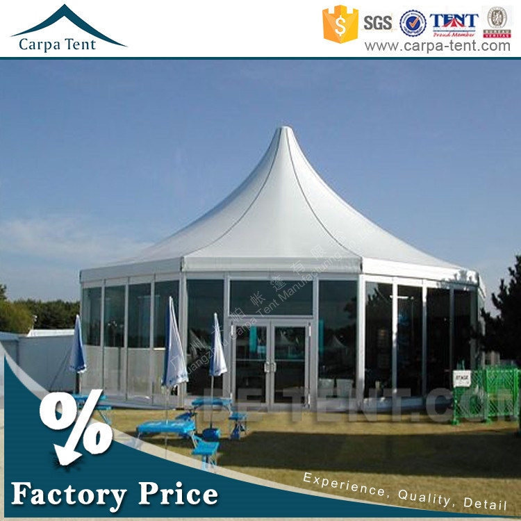 10m Diameter Glass Wall Backpacking Outdoor Banquet Tent with Air Conditioner