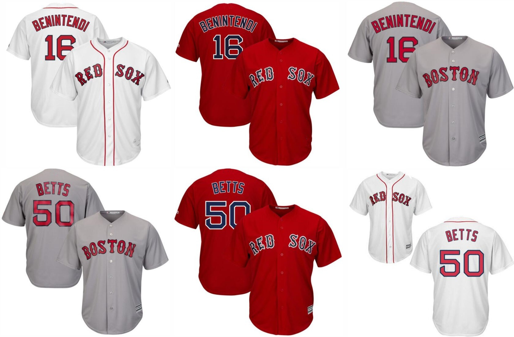 new style 27cd7 5f554 [Hot Item] Boston Red Sox Mookie Betts and Andrew Benintendi Baseball Jersey