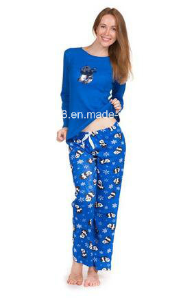 d58384f4dc Women Long Sleeve Pajama Set- Royal Blue Top   Royal Blue Long Pant (PJ-11).  Get Latest Price