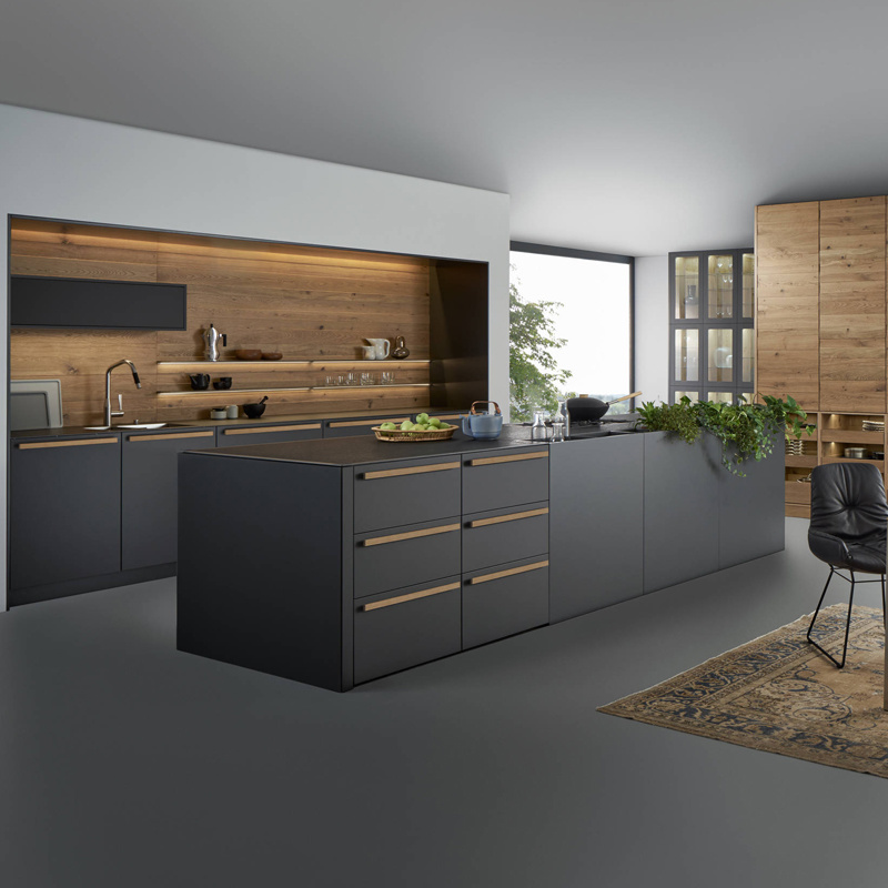Brilliant Hot Item Modern Style Black Color High Gloss Plywood Kitchen Cabinets Design Doors Download Free Architecture Designs Embacsunscenecom