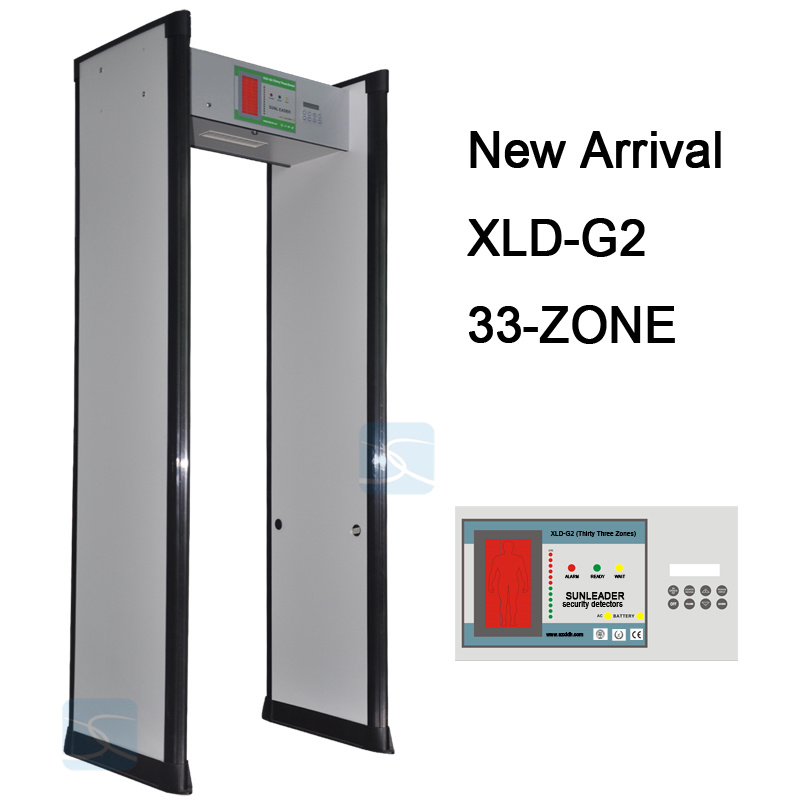 33 Zones Security Archway Door Frame Walk Through Metal Detector Gate Xld-G2