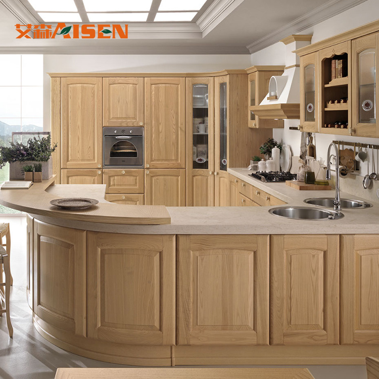 Hot Item Affordable Price Factory Direct Used Solid Wood Kitchen Cabinets Craigslist In Hangzhou