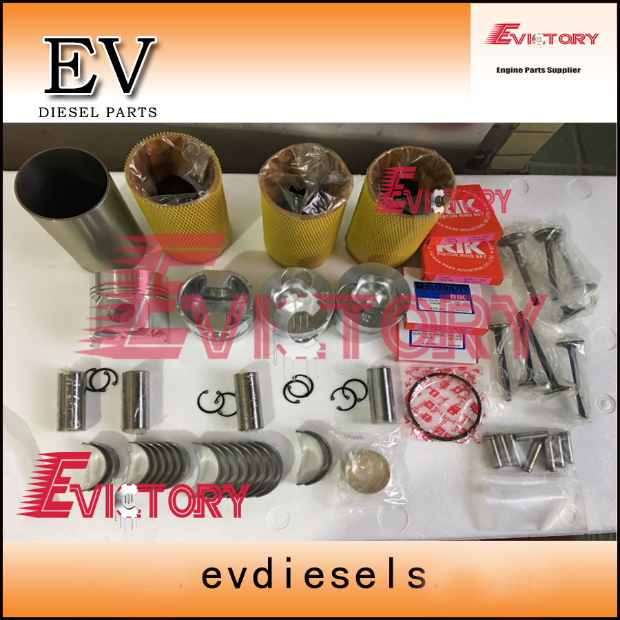 1 Set Valve Guide Seat Intake Valve /& Exhaust Valve for Yanmar 3T84 Engine