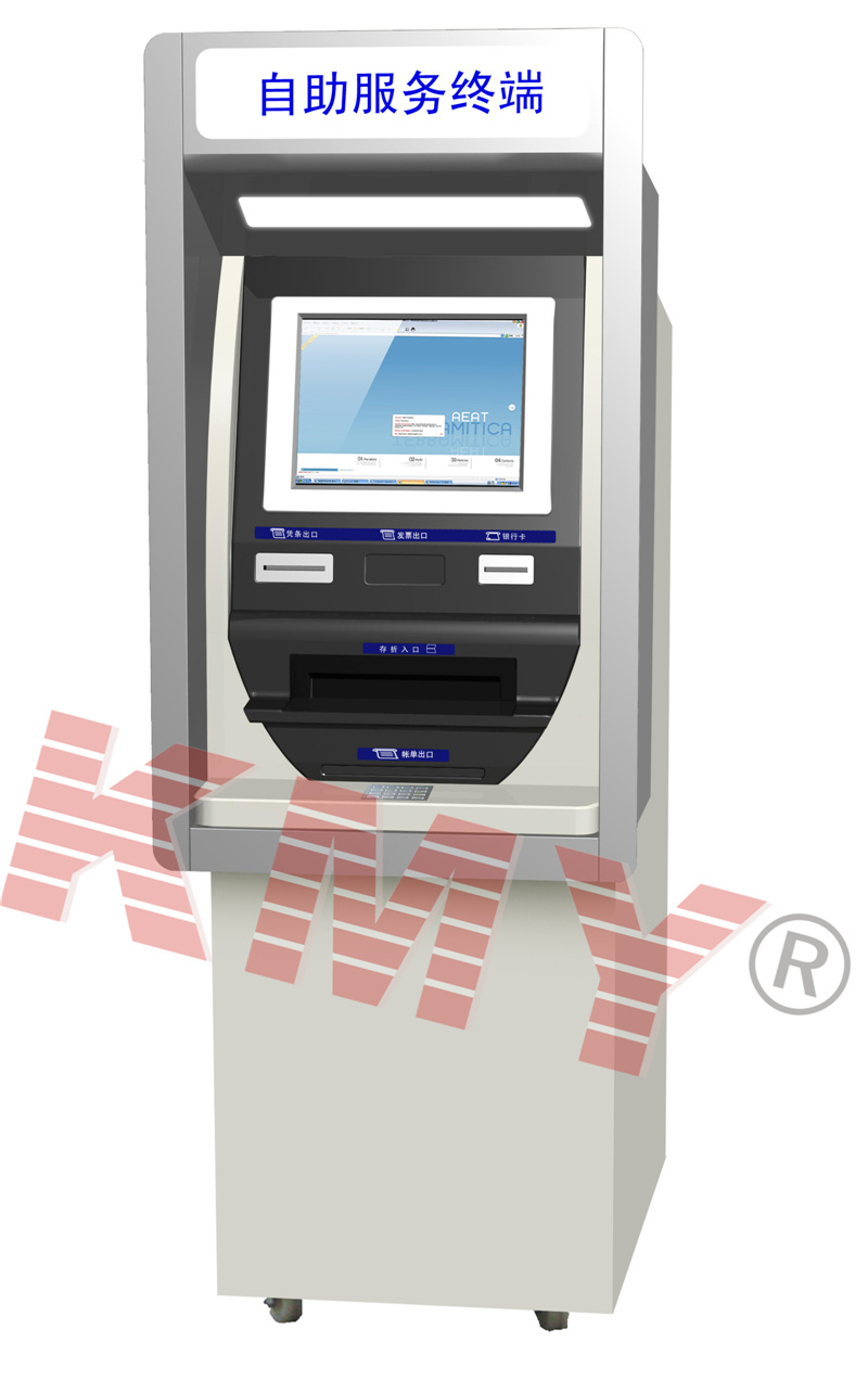 Wall Through Automatic Banking Self Payment ATM Kiosk with Bill Acceptor