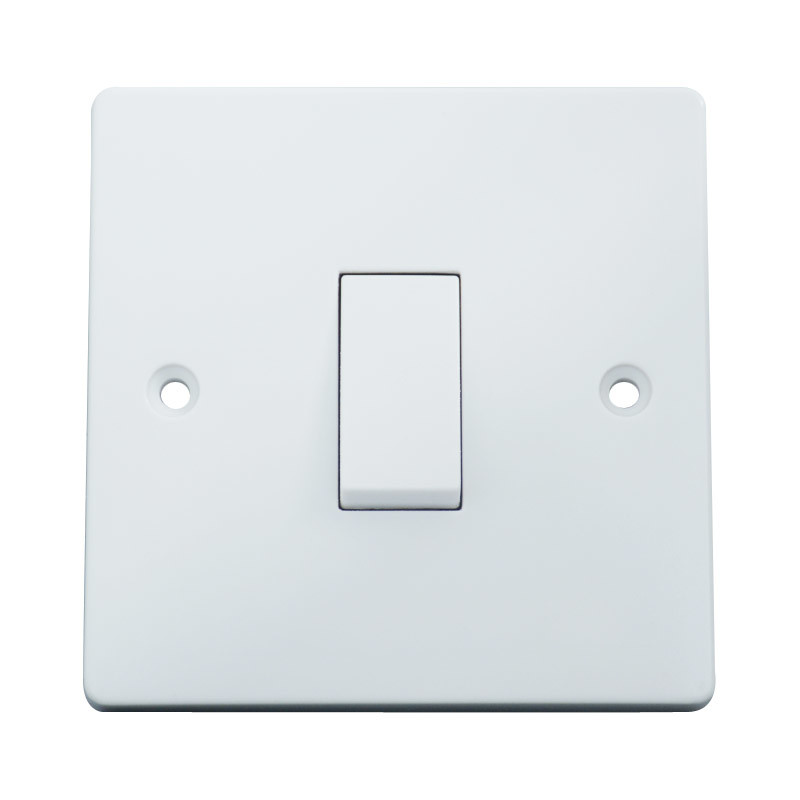 China BS En60669-1 10AMP 1gang 2way Switch Plate - China Switch ...