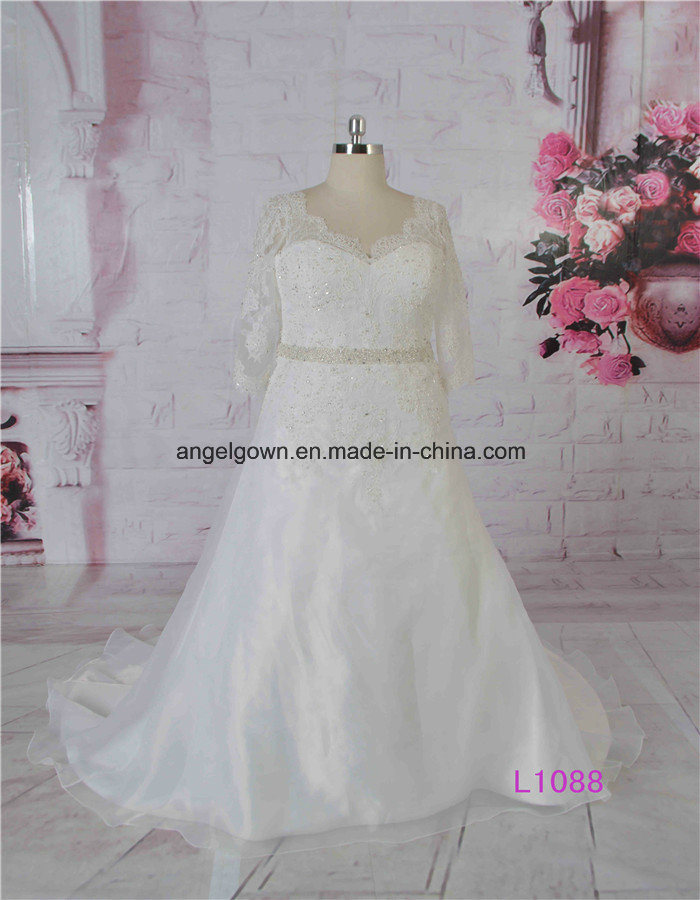 China Guangzhou Factory Elbow Sleeves Bridal Gowns for Fat Women ...