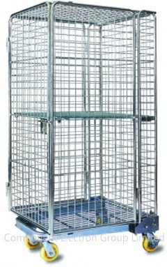 China Storage Cage Shopping Container, Metal Container, Wire Mesh Cage,  Storage Container, Metal Racks   China Roll Container, Storage Container