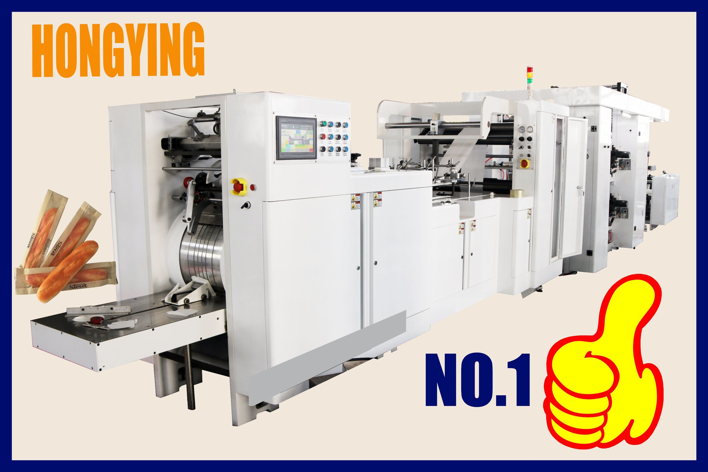 China Roll Paper Feed 40GSM Paper V Bottom Paper Bag Making Machine, V Bottom Paper Bag Machine, Paper Bread Bag Making Machine, Paper Bread Bag Machine ...