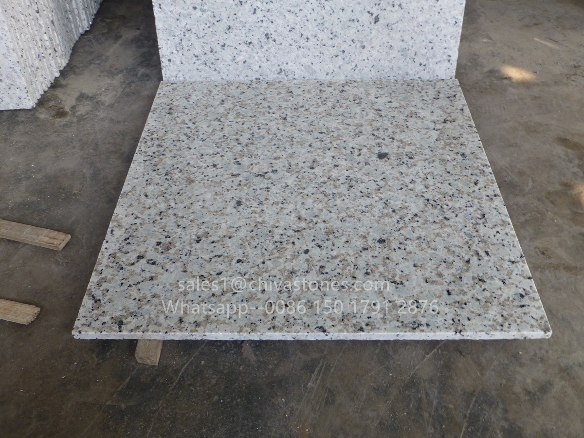 White Color Bala Polished Flamed Honed Granite Flooring Tile Wall Paving Stairs