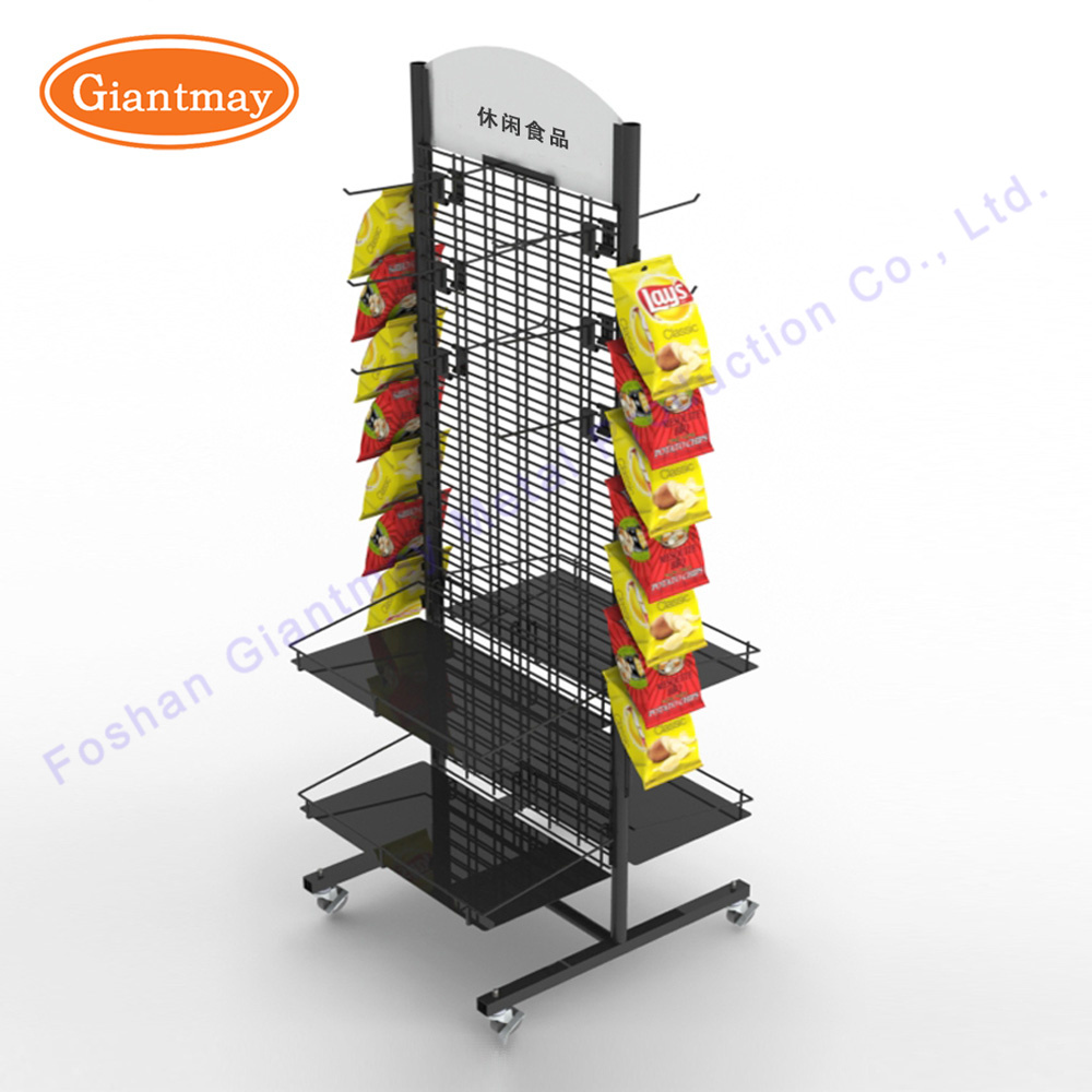 China Double Side Metal Wire Mesh Wall Display Rack for Hanging ...